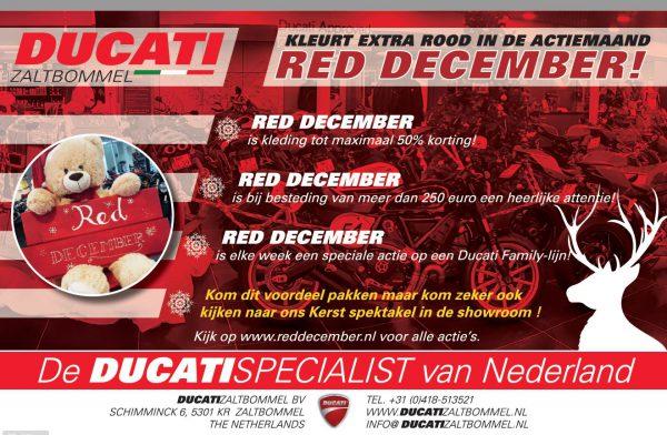 Ducati Zaltbommel kleurt extra rood met de actie RED DECEMBER!