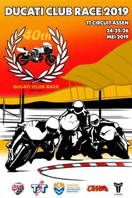 Ducati Zaltbommel aanwezig bij Jubileumeditie Ducati Club Race op het TT circuit in Assen.